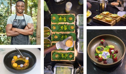 Chef Malonga, passionate about delicious food and fresh ingredients