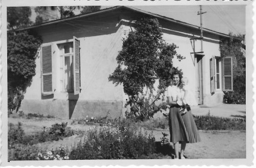 Bunny's house Asmara 1950 with her mother and elder sister