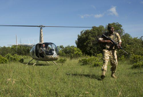 A MEP ranger tracking down pouchers