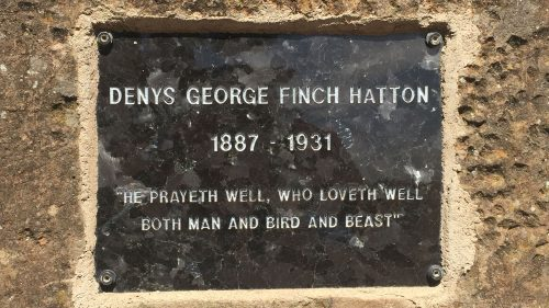 The tombstone on Denys Finch Hatton's obelisk grave