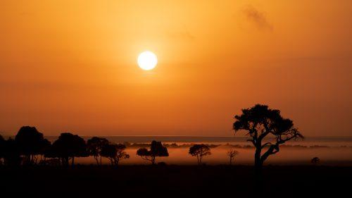 A magnificent sunrise in the Mara Triangle