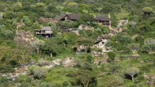 Perched atop a rocky gorge, the sublime Mwiba Lodge