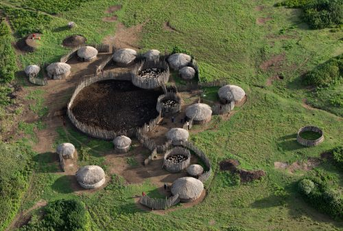 Local Tanzanian communities as seen from above
