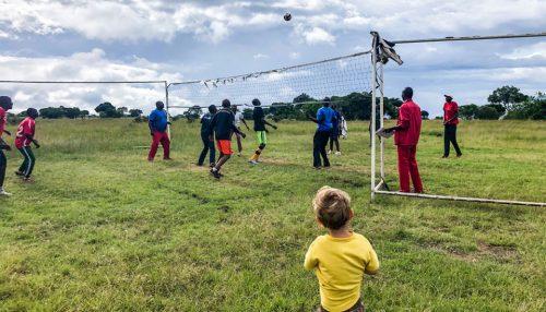 Everyone loves Volleyball at Angama Mara