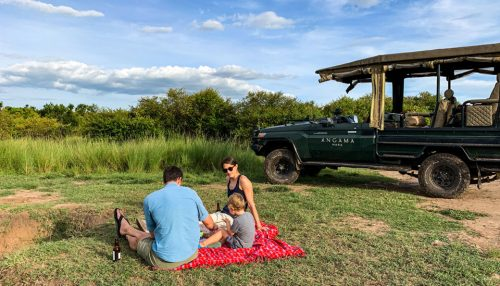 Shannon, Tyler and Perrin stop for a picnic in the Mara