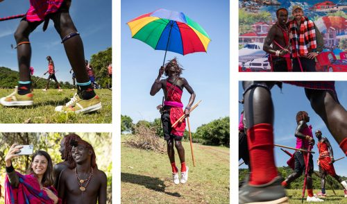 A modern Maasai celebration including jumping, singing, dancing, celebrating and capturing the moments