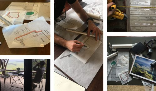 Sketching, measuring and photos galore, the architects spent a busy time at Angama Mara