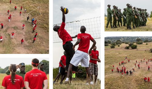 The Angama team spent a fun-filled afternoon at the Davis family's farewell party