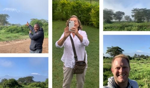Wilson, Nicky and Steve try to capture the majestic Kilimanjaro