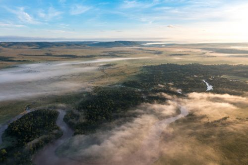 Above: Looking out over the Maasai Mara
