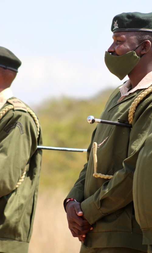 Mara Conservancy Rangers looking smart at the 20th Anniversary celebration