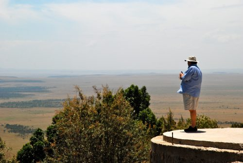 Steve Fitzgerald dreaming his Angama dream as captured by Duncan