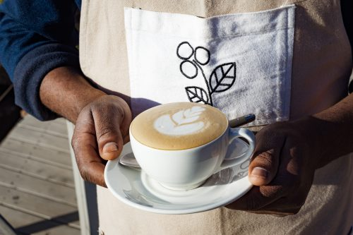 It's hard to find coffee like this on safari