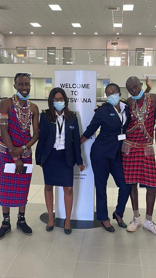 Saying a big hello to Botswana