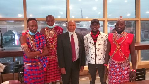 The guides had a great time exploring the airport and met Kipchoge Keino
