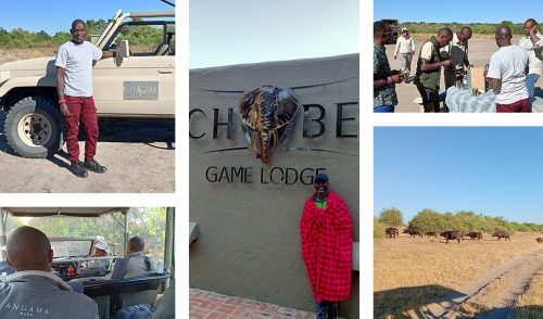 We crossed the border to Botswana and were greeted by the friendly guides from Chobe Game Lodge