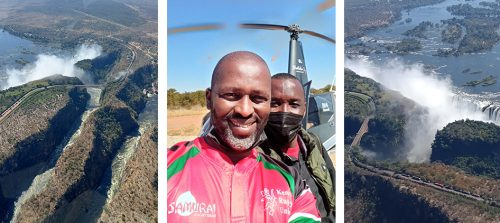 The helicopter flip over the Victoria Falls was a highlight of many of our lives