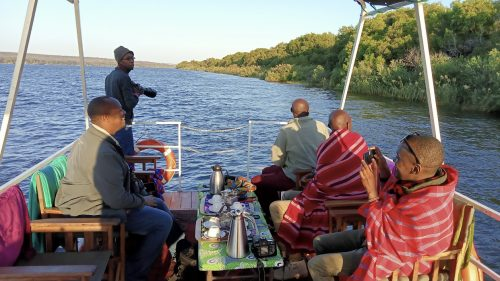Coffee is a must on the early morning river cruises