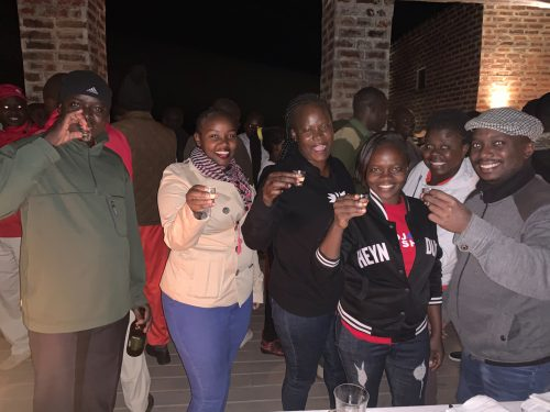 The Angama family very bravely threw back the cherry flavoured 50% alcoholic offering