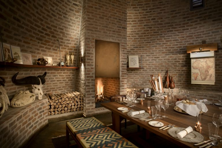 Private dining in Angama Mara's Map Room