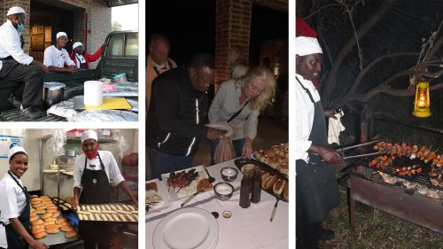 The chefs cooked up a storm under Amanda's careful watch, from braaivleis to rolls for the boerewors, they'll put any South African chef to shame