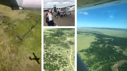 It was a delight flying over Nairobi and then the Mara with all sorts of interesting things to see from the air, including elephants and Maasai manyattas