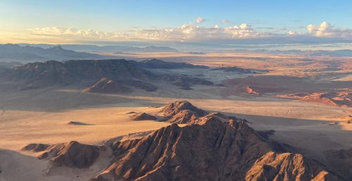Above: Floating above the other-wordly Sossusvlei, Namibia