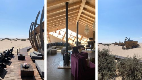 The architecture of the aptly named Shipwreck Lodge