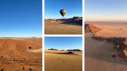 Visiting several planets on a hot-air balloon ride over the Namib-Rand Nature Reserve
