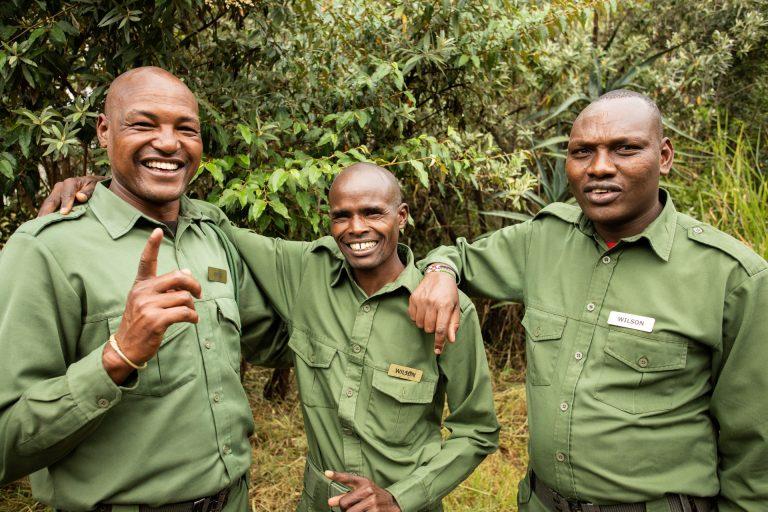Angama Mara security members Wilson, Kipnei and Wilson