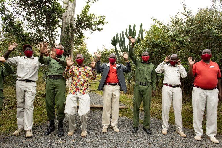 Angama Mara team welcome guests COVID protocols adhered