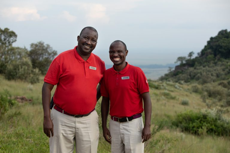 Angama Mara Camp Managers Joseph and Ibrahim