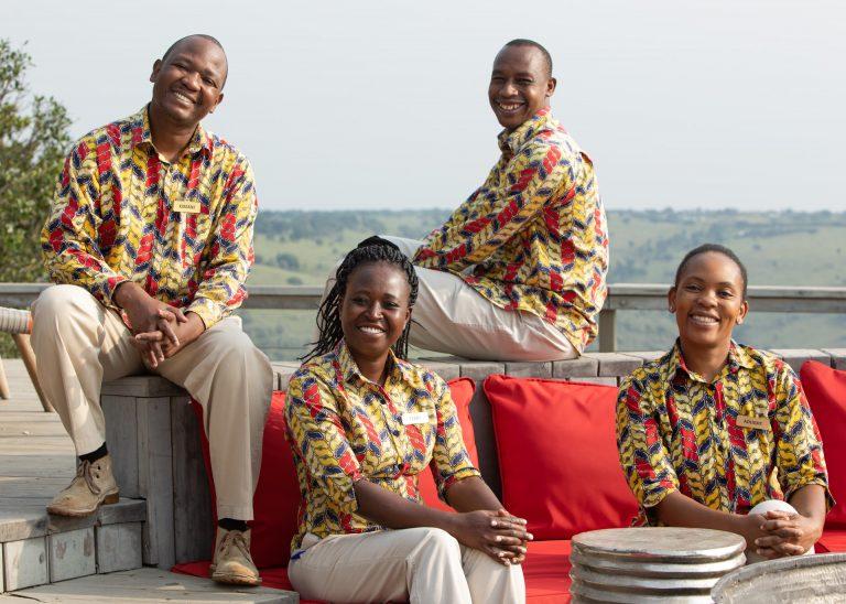 Angama Mara butlers John, James, Terry and Adlight