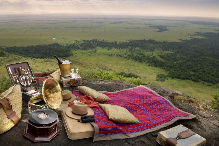 Celebrating at Angama Mara Out of Africa Kopje