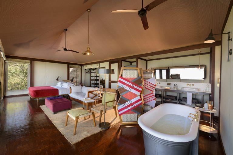 Angama Mara Tented Suite interiors