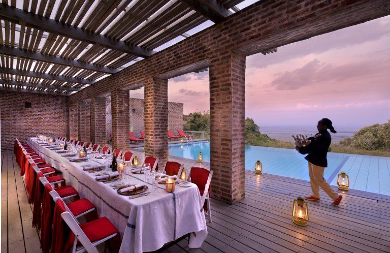 Celebrating and dining at Angama Mara Pool