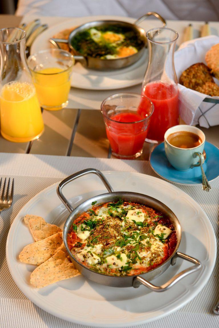 Shakshuka breakfast at Angama Mara