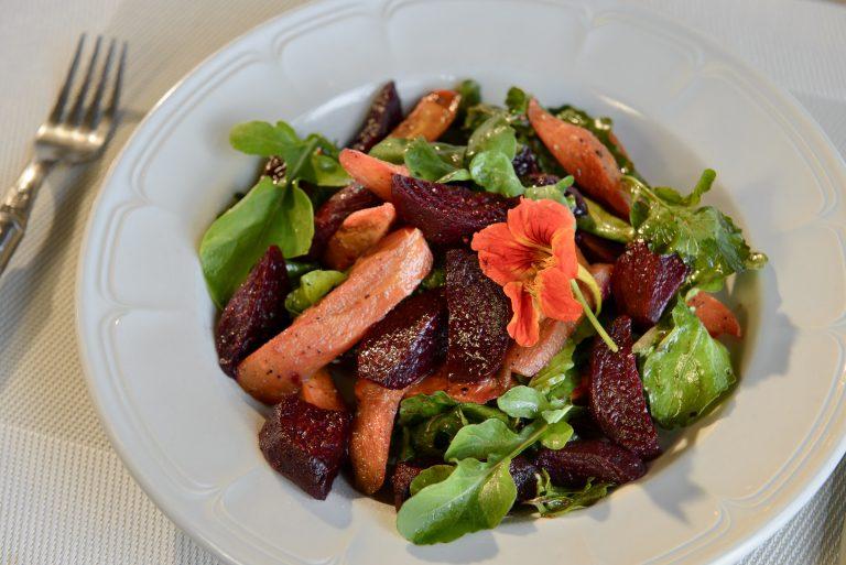 Root vegetable salad at Angama Mara