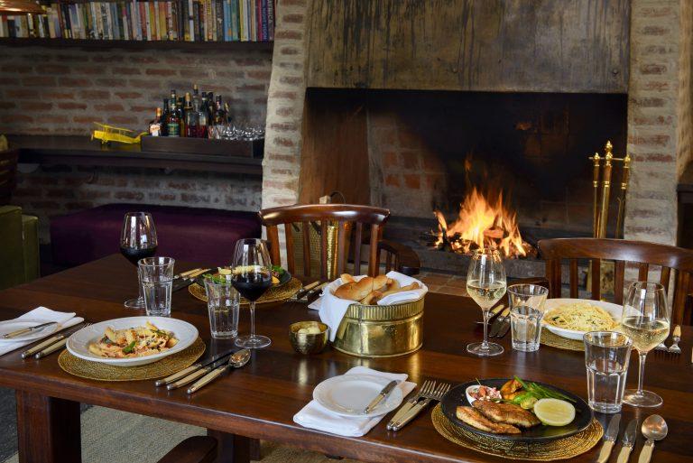 Dining indoors at Angama Mara