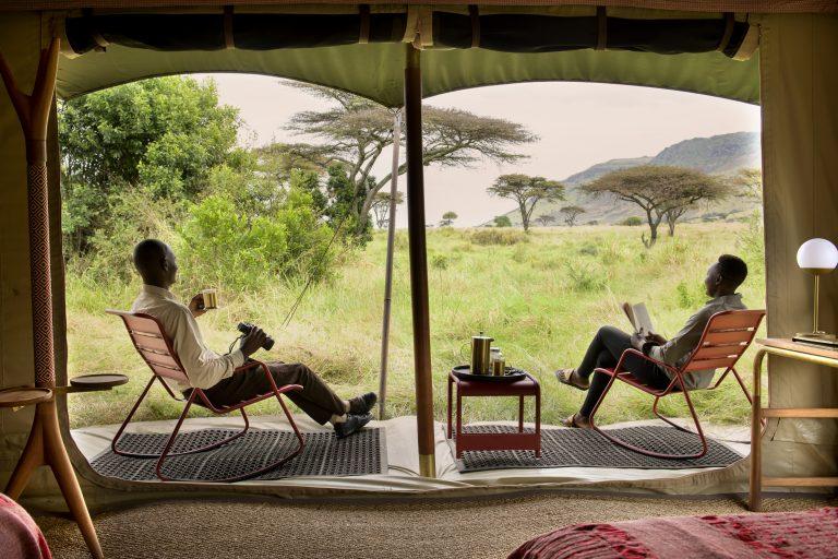 Angama Safari Camp tent views and experience