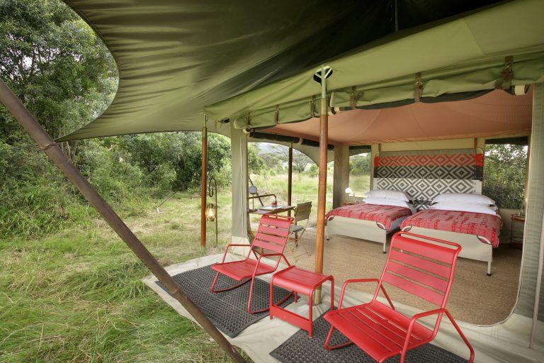 Angama Safari Camp tent interiors