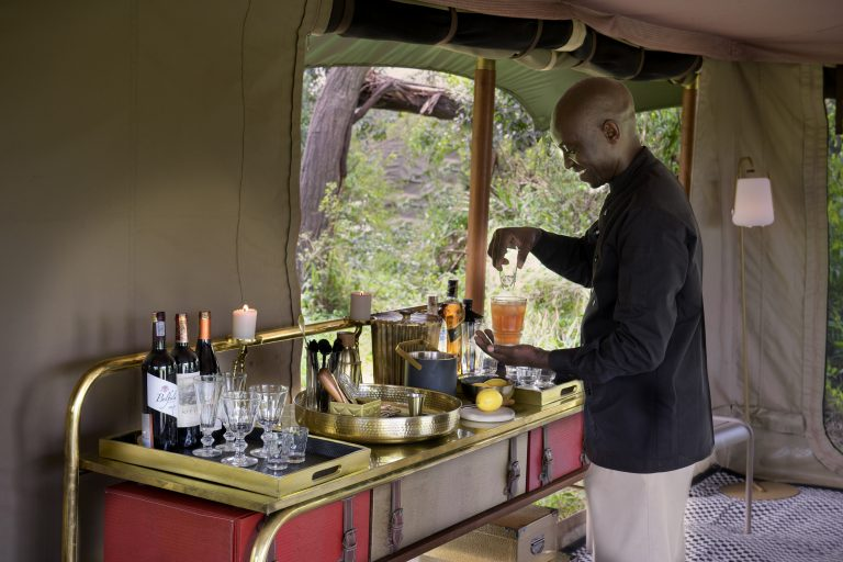 Butler service at Angama Safari Camp