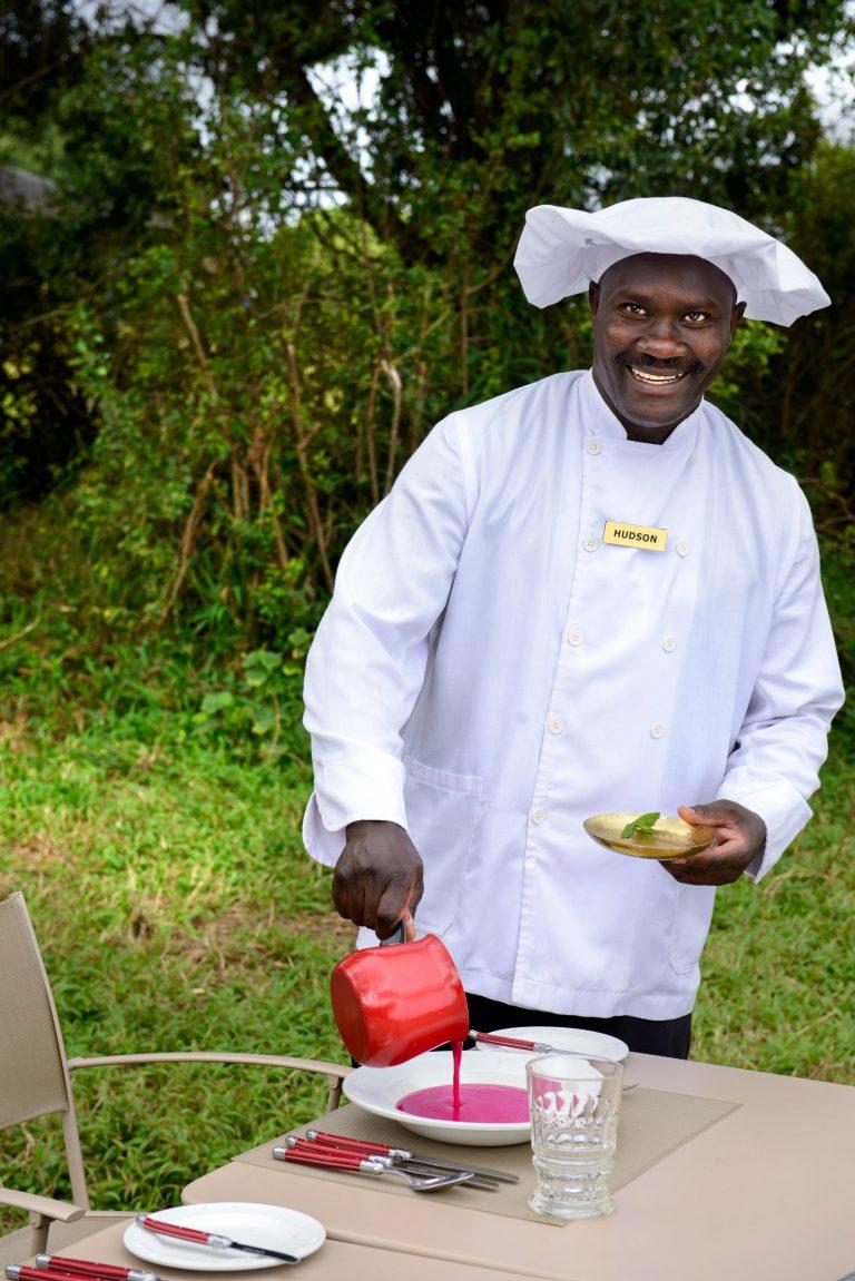 Chef hudson at Angama Safari Camp