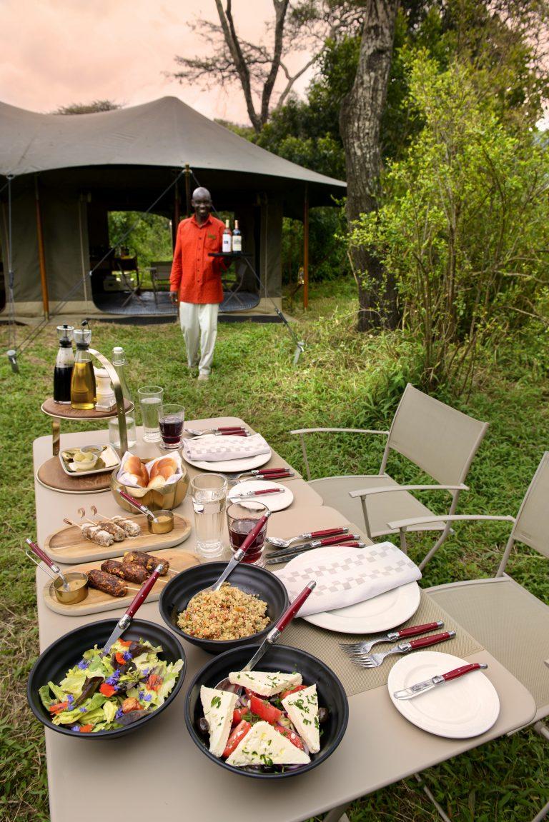 Dining at Angama Safari Camp