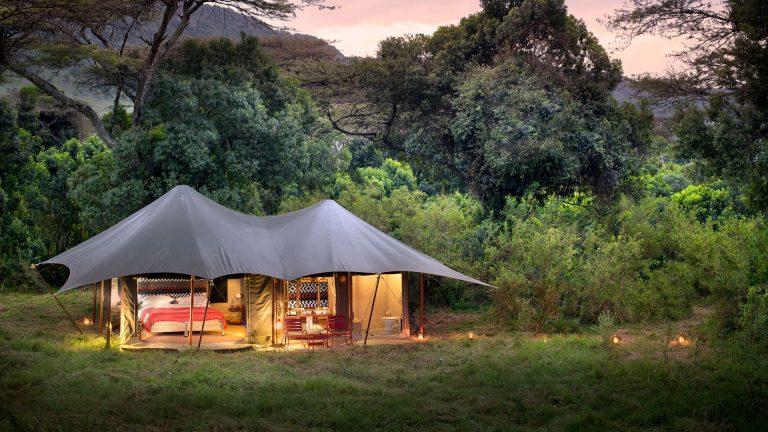 Angama Safari Camp tented mobile camp
