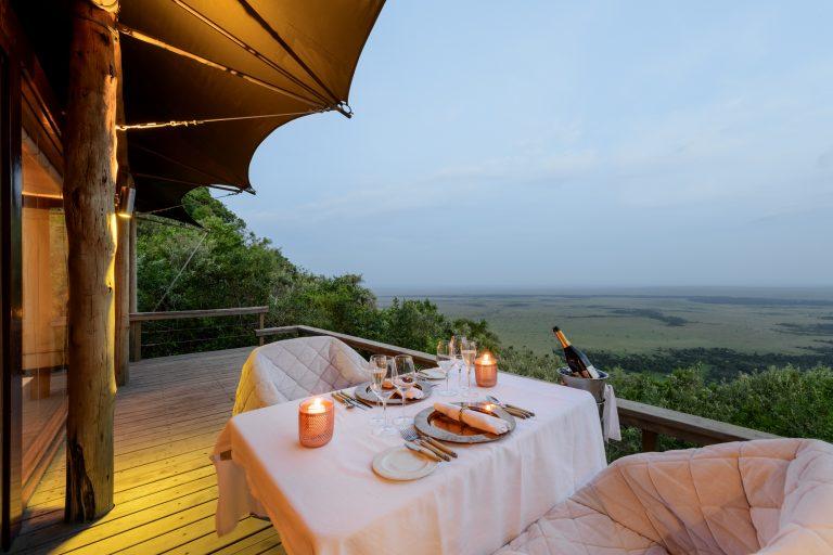 Angama Mara in tent dining
