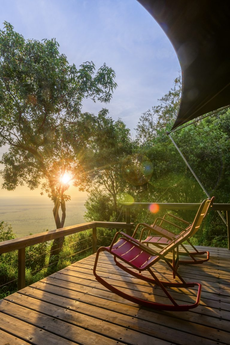 Angama Mara tent with Fermob rocking chairs