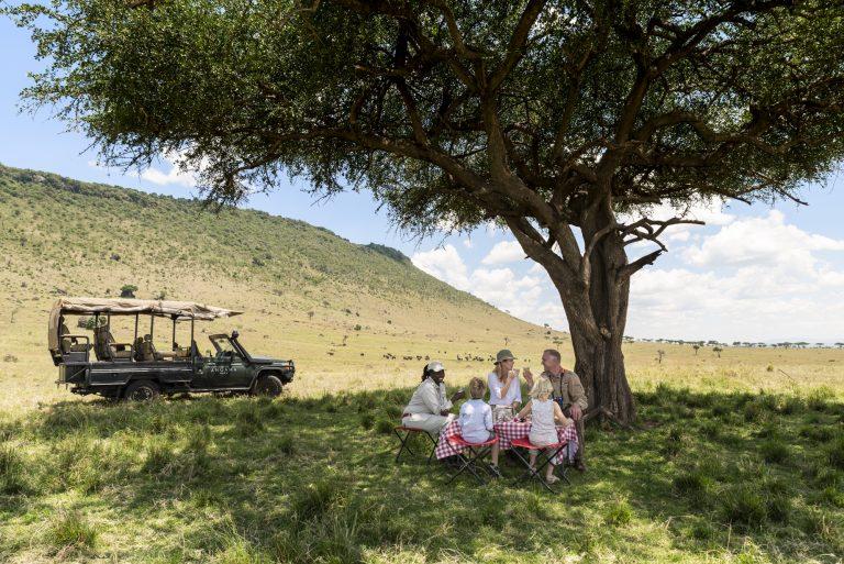 Family picnic in the Maasai Mara
