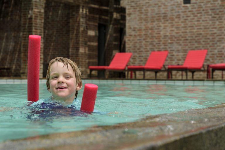 Children swimming Angama Mara pool