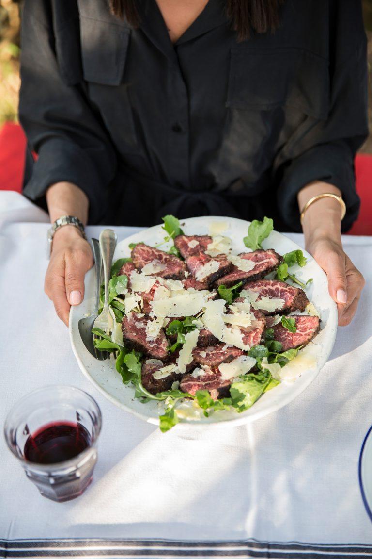 Steak taglaita Angama Mara food
